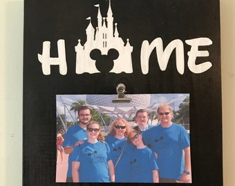 Disney vacation Home  Wooden photo holder