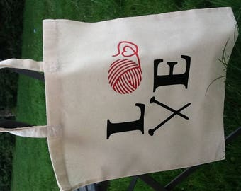 Tote bag Love knitting