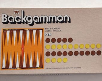 Vintage 1974 BACKGAMMON GAME by Whitman games