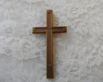 "Raw copper solid cross,2&1/8th"",1pc-CHM216"