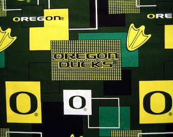 Oregon Ducks Fabric By The Yard Cotton 36 Inches Long