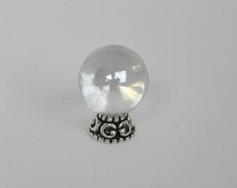 Miniature Gazing Glass 'crystal' Ball, fairy garden, dollhouse or terrarium, fairy garden accessories, fairy garden supply, handmade supply