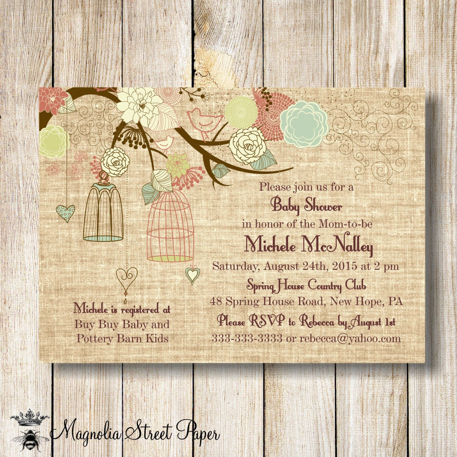 Image Of Bird Baby Shower Invitations Bird Baby Shower Invitation ...
