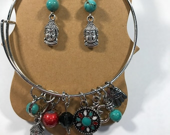 Bangle and Earrings Set
