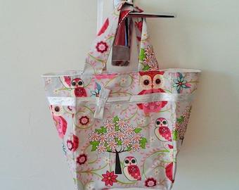 Mini gray fabric tote bag