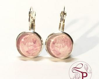 Leverback earrings | Flower earrings | Silver earrings | Peony earrings | Botanical jewelry | Flower jewelry | Gift for Her | Botanical Art