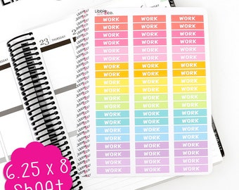 LS178 Spring Work MDN Headers!  Set of 60 Perfect for the Erin Condren Planner!!!