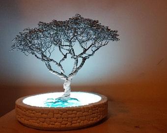 light blue tree