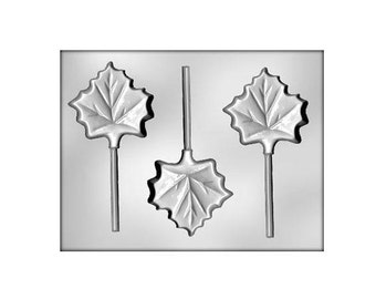 Leaf Chocolate Lollipop Mold, Fall Leaves Sucker Mold, Maple Leaf Chocolate Mold