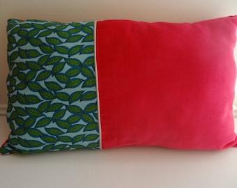Leaves organic velvet cushion