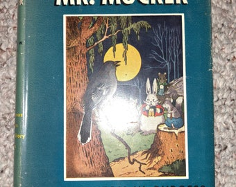 The Adventures of Mr. Mocker Thornton Burgess Bedtime Story Book hardcover book 1942