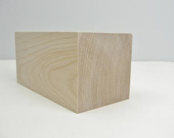 """Large wooden rectangle 5"""" x 2 1/2"""" x 2 1/2"""""""