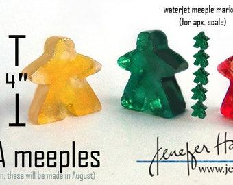MEGA Meeple! Large Cast glass Player Marker by Jenefer Ham Pawns Board Game Glass Sculpture