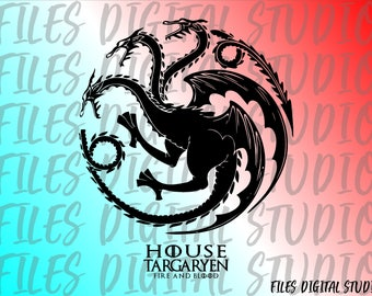 Targaryen Game of Thrones SVG,dxf,pdf,ai,Targaryen House,Game Of Thrones digital file,Game Of Thrones vector, Instant Download Targaryen