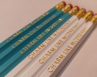 Charm like Mcdreamy Pencils   Fun pencils   Derek-Mcdreamy Pencils Greys Anatomy Quotes   Hexagon Pencils   USA Made   Motivational Pencils