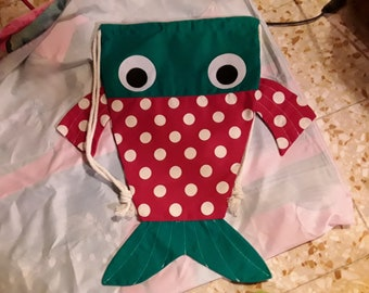 Backpack fish, laundry bag playful, fun backpack, backpack bag playful, original, beach bag, bag child, adult bag