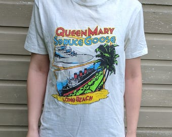 Vintage 80s Queen Mary/Spruce Goose Tee