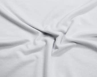 White Poly Spandex Knit Fabric by the Yard - Style 435
