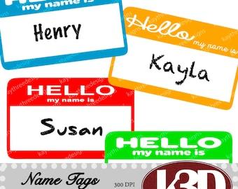 name tag clip art etsy rh etsy com name badge clipart hello name tag clipart