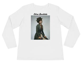 "Audrey Hepburn Eliza Doolittle ""My Fair Lady"" Ladies' Long Sleeve T-Shirt"