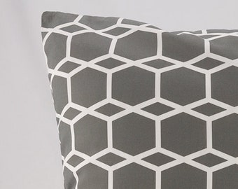 FREE SHIPPING - Throw Pillow Covers - Throw Pillow Cover - Geometric Throw Pillow Cover - Geometric Throw Pillow - Charcoal Gray Pillow