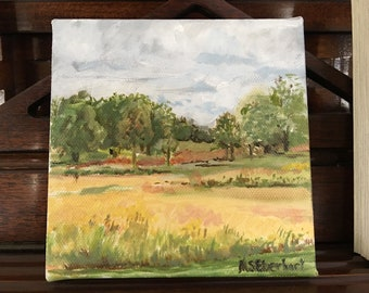 Original Oil Painting on Canvas Late Summer Storm King