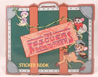 Vintage Walt Disney The Rescuers Down Under Sticker Book with Package of Stickers.