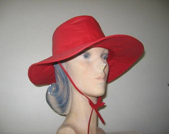 1960's-70's Vinyl Bucket Style Rain Hat, Two Colors Available!