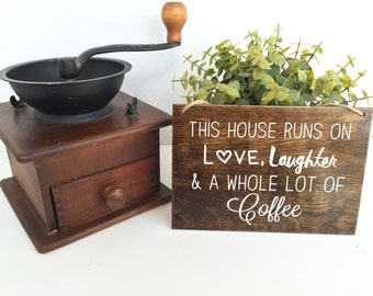 Coffee Decor Sign | Modern Farmhouse Art | Coffee Bar | Rustic Home Decor | Fixer Upper Style | Funny Kitchen Signs | Coffee Bar Art