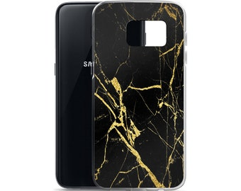 Black and Gold Marble Samsung Case