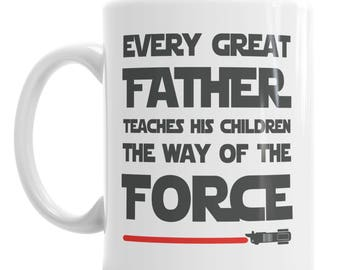 Every Great Father Teaches His Children 11oz Ceramic Novelty Mug