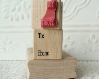 To/From text rubber stamp from oldislandstamps