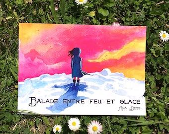 Carnet de voyages poétiques à l'aquarelle - Islande, Maroc, Crète et Finlande