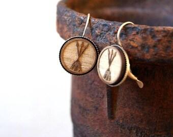 Triple Arrow Earrings - Wooden Arrows