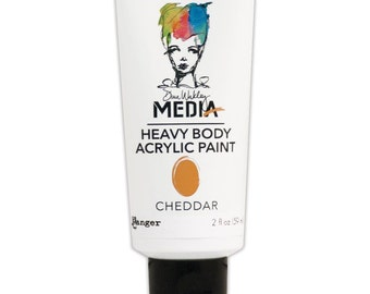 Dina Wakley Media Heavy Body Acrylic Paints - Cheddar
