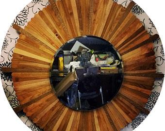 Custom made wooden mirror frame