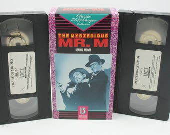 The Mysterious MR. M VHS Tape