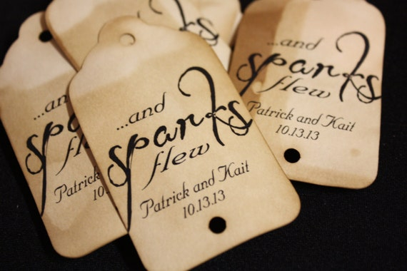 And Sparks Flew 125 Personalized Sparkler Farewell Tags