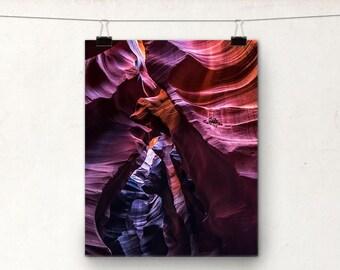 Antelope Canyon, Page Arizona, Slot Canyon, Colourful Landscape Photo
