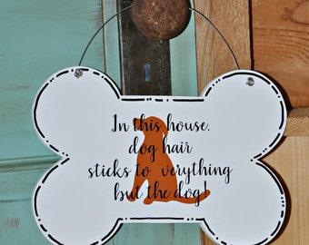 Wood and Paint Dog Bone Door Hanger