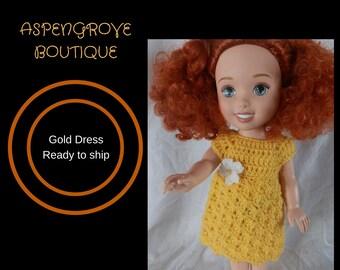 14 inch doll sundress clothes handmade crochet ready to ship