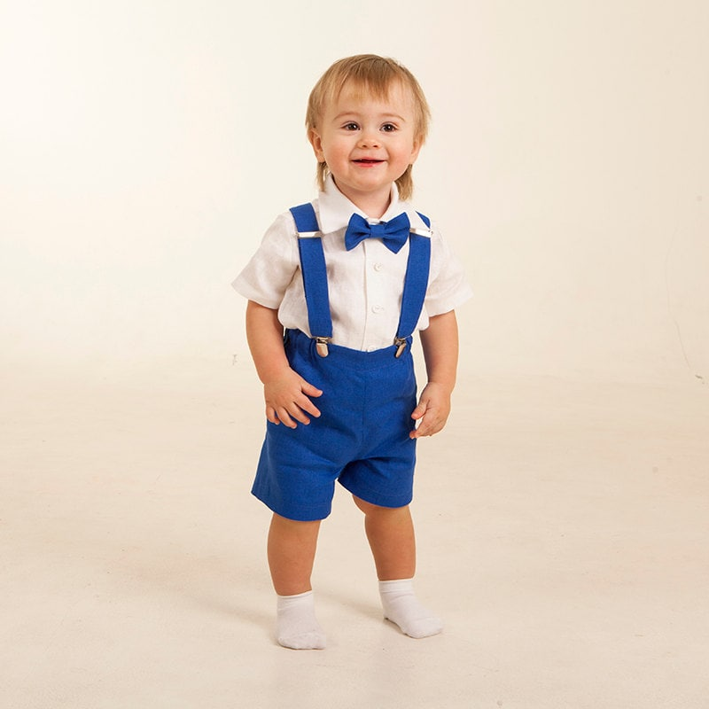 Ring Bearer Outfits Royal Blue Boy Shorts With