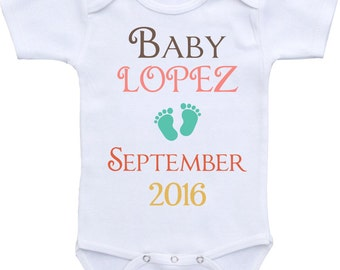 Pregnancy Announcement onesie ® Bodysuit. Pregnancy reveal. Gift for grandparents. Baby announcement ideas. Grandparents to be