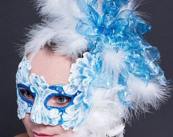 "Blue masquerade mask - ""Mystic"" carnival mask"