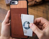 iPhone 8 Plus Leather Wallet Card ID Case, Ultra-slim iPhone 8 Plus Leather Card Carrying Case