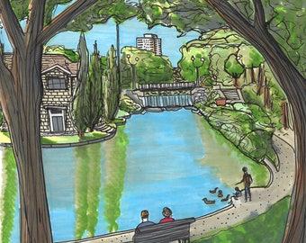 Montreal Art Print - Parc de la Fontaine