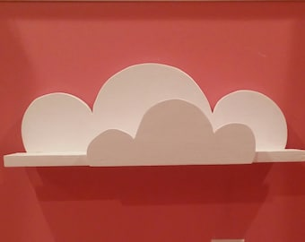 Kid's cloud shelf, kid's book shelf, book shelf, cloud shelf, wooden shelf