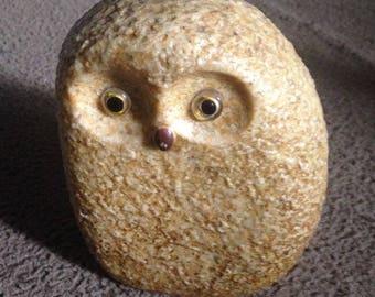 Vintage Modern Stone Owl Sculpture!