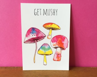Get Mushy A6 card
