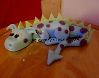 Edible sugar paste/fondant Dragon,cake topper, cake decoration,boy,girl,birthday,child
